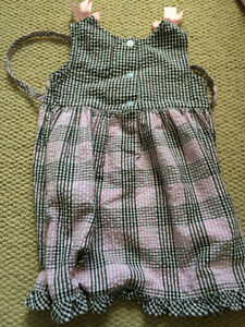 Black and pink checkered dress, 2T Kitchener / Waterloo Kitchener Area image 2