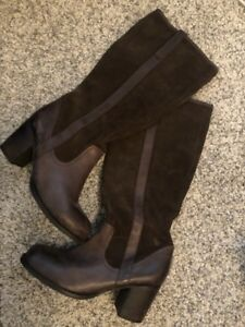 Suede + Leather boots, size 10