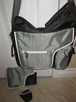 JJ Cole System 180 Diaper Bag Set in Black Stitch