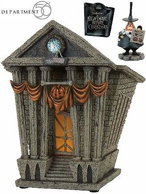 Department 56 Nightmare Before Christmas Halloween Town City Hall Village New - Nightmare Before Christmas Halloween Village
