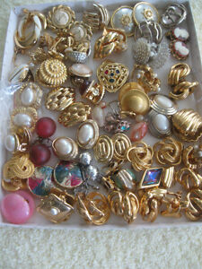 FORTY PAIRS [PLUS] / OLD VINTAGE EAR RINGS.[SCREW-BACKS & CLIP]