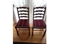 stained chairs x4