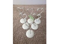 Heart table number holders