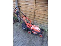 Black & decker 34cm rotary lawnmower £25