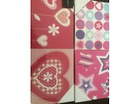 Girls wall canvasses