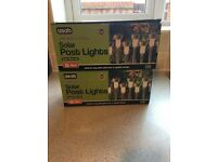2 x boxes of brand new solar lights (10 in each box) bright white
