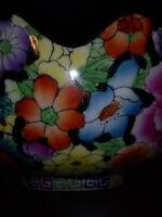Elegant Vintage Gold Plated Floral Design Fruit Or Showcase Bowl