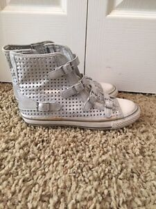 Ash silver leather shoes brand new! Size 8 Cambridge Kitchener Area image 1