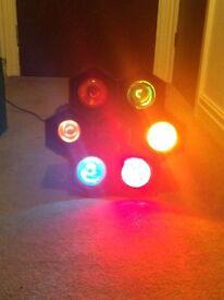 Flashing professional DJ lights