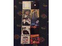 10 mixed vinyl singles