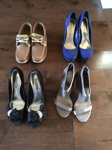 Shoes, heels and boat shoes size 7 1/2 & 8  Cambridge Kitchener Area image 1