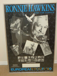 RONNIE HAWKINS POSTER - FRAMED