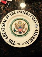 United States bi-centennial commemorative plate