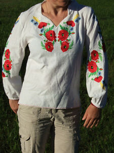 womans embroidered blouse