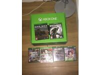 Xbox one 500gb with six games