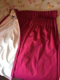 """Pink/fuschia Dunelm blackout curtains 66""""x54"""""""
