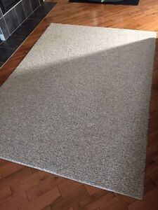 7' by 5' beige area rug