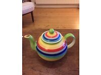 Hand painted Rainbow Teapot