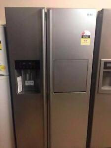 LG steel 567L Fridge and Freezer / 12 Months warranty Yeerongpilly Brisbane South West Preview