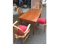 VARIETY OF 6 TABLES AND 8 CHAIRS GREAT QUALITY OAK£10 PER CHAIR £20 PER TABLE an free local delivery