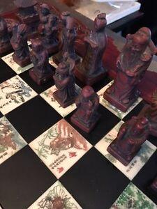 Soapstone Asian themed chess set Peterborough Peterborough Area image 4