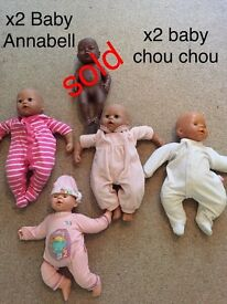 Baby Annabell and baby Chou Chou