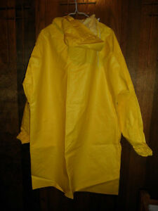 YELLOW RAIN TRENCH COATS