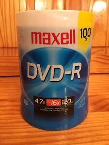 Maxell DVD-R 100 pack writable disks  London Ontario image 1