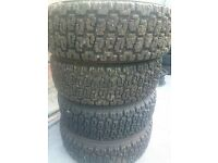 4x 195/70 r13 kumho of road tyres