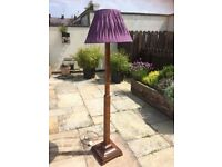 Art Deco Tall Standing light with purple shade