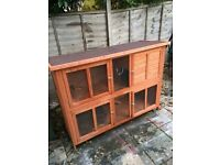 Blue bell rabbit hutch and winter cover