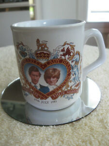 ENGLISH IRONSTONE COLLECTOR'S MUG ROYAL MARRIAGE CHARLES & DI