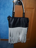 Classic Black and White Handbag