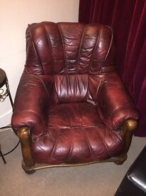 Two Real leather chairs