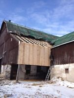 BARN REPAIRS, STEEL ROOFING & EAVESTROUGHING