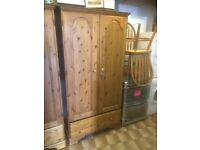 Ducal pine 2 door wardrobe (2 available)