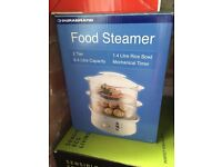 Food steamer 2 tier almost new boxed