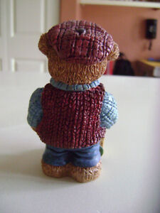 "Vintage ""ANTIQUE TEDDIES"" Handpainted Polyresin Figurines  Lot A London Ontario image 8"