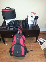 Canon EOS 60 D and Lenses.