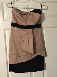 Sweet heart pink and black cocktail dress . Size small / XS