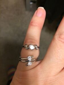 2 Silver Cubic Rings