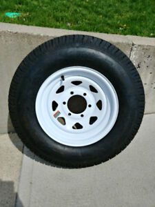 Travel / Boat Trailer ST225/75D15 spare wheel & tire BRAND NEW
