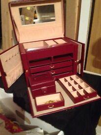 Red jewellery box