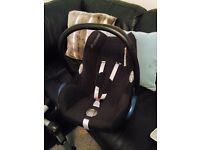 Maxicosi car seat, Isofix and footmuff