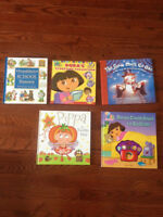 5 Hardcover Kids books - Dora, Franklin, Pippa