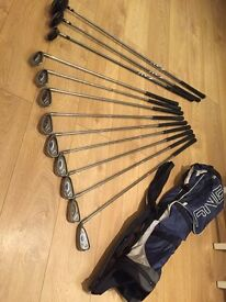 Ping G5 full set of clubs and Ping bag.