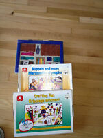 School supplies and craft kits