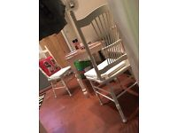 Shabby Chic table and two chairs