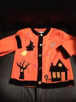 HALLOWEEN Veste Orange 4T (2disponible)