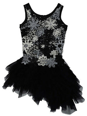 Biscotti Girls Black Party Dress Size 6X Modern Princess Sleeveless Sequined NWT ()